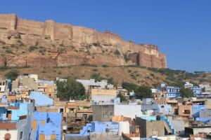 Blick auf die Festung Mehrangarh in Jodhpur