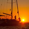 Sonnenuntergang im maritimen Naturpark Telascica