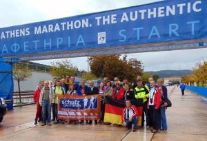 Am Marathon-Start