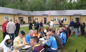Grillen nach der Vätternrundan - in unserer gemütlichen Unterkunft in Ljungsbro