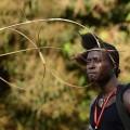 Szene vom Karneval in Bissau