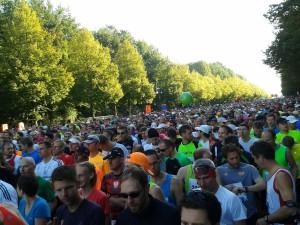 40.000 Läufer unmittelbar vor dem Start