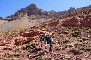 Farbspiel der Felsen im Hohen Atlas