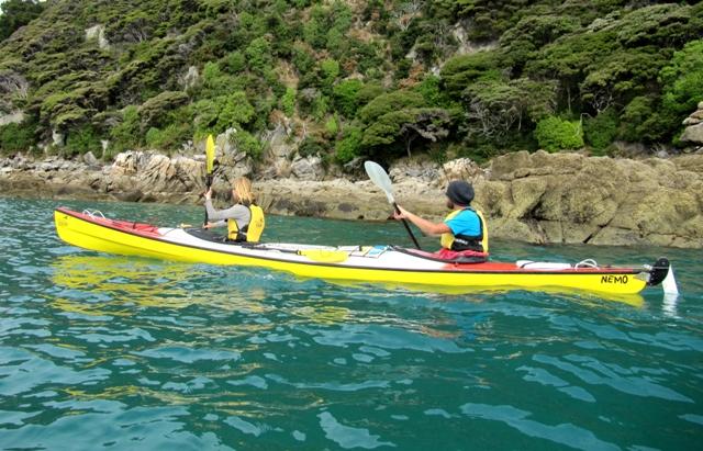Mit dem Seekajak zum Taupo Point