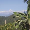 Blick auf  Machhapuchhare und die Annapurnakette