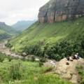 Rast auf einer Wanderung in den Drakensbergen