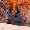 Badegelegenheit im eiskalten Pool der Redbank-Schlucht