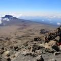 Beim Abstieg vom Kibo eröffnet sich ein tolles Panorama.