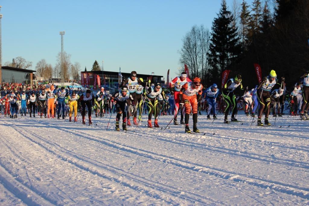 Kurz nach dem Startschuss in Otepää.