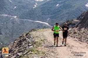 Samaria Run 2015, im Hintergrund die letzten kleinen Schneefelder