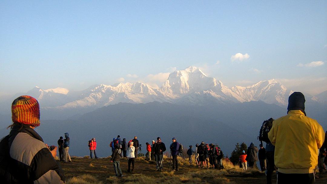 Blick vom Poon Hill auf den Dhaulagiri (8167 m)