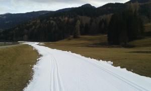 Im Moment noch ein etwas gewöhnungsbedürftiger Anblick, doch bis Ende Januar wird wohl auch noch der Naturschnee hinzukommen.
