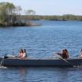 Mit Ruderbooten auf dem Onegasee