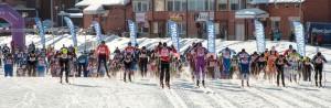 Start beim Euroloppet Vuokatti Hiihto