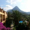 Blick aus dem Hotelzimmer in Adrasan