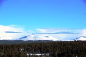 Oft im Blick: Die gewltigen Tunturi Berge.