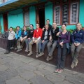 Unsere Silvestergruppe gut gelaunt nach dem ersten Trekkingtag in Hille.