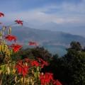 Blick über den Phewa-See und die Urlaubsstadt Pokhara.