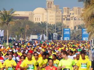 15.000 Läufer auf der 10 km-Strecke