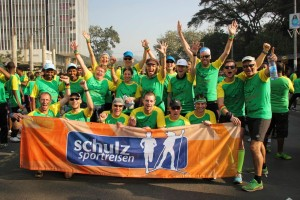 Unsere fantastische Reisegruppe beim Great Ethiopian Run 2015