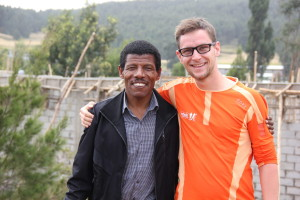 Laufsportlegende Haile Gebrselassie und Stefan