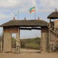 Eingang zur Awash Falls Lodge: von hier startet unsere kleine Safaritour