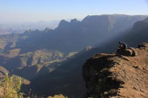 Da war auch unser Trainer Piet begeistert: Atemberaubende Ausblicke im Simien-Nationalpark