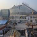 Der Boudhanath 2016 im Wiederaufbau.