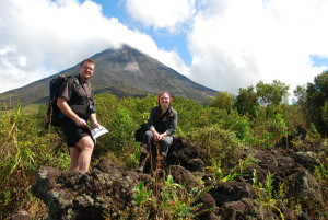 Vulkan Arenal - perfekte Kulisse für das Erinnerungsfoto