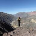Alex Koller über der Quebrada Toro, Beginn des Wokentrekkings in Argentinien