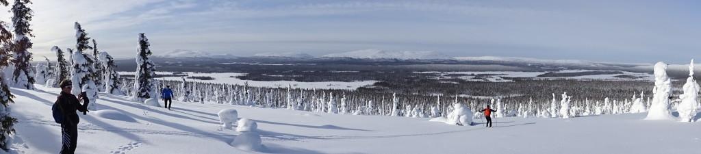 Die Landschaften bei unseren Skitouren ab Rauhala sind überwältigend