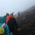 Dichter Nebel kurz vor dem Gipfel.
