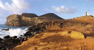 Capelinhos auf Faial - die bizarre Vulkanlandschaft entstand erst in den 50er-Jahren