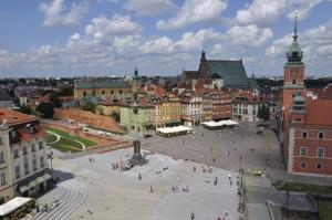 Blick auf die Warschauer Altstadt