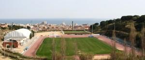 Beste Bedingungen im Leichtathletik-Stadion Calella, um auch auf der Bahn zu trainieren.