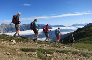 Zu Fuß von den Allgäuer Alpen bis nach Meran