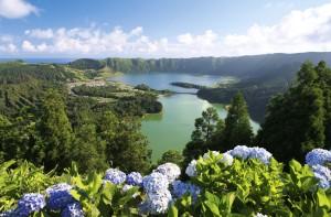 Der Kraterkomplex Sete Cidades zählt zu den sieben Naturwundern Portugals