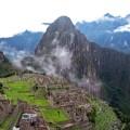 Machu Picchu, die spektakulär gelegene Inkastätte in Peru