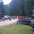 Startpunkt des Stoaberglaufes am Parkplatz des Loferer Hochtals (ca. 800 m ü.d.M.)