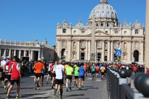 ... auch am Vatikan führt die Strecke entlang