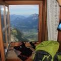 Ausblick von einem Zimmer der Schmidt-Zabierow-Hütte