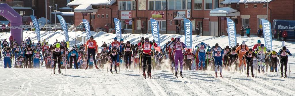 Start des Vuokatti Hiihto Euroloppet, nur vier Gehminuten vom Hotel entfernt!