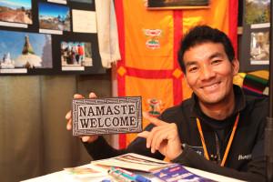 Namaste - Gelu Sherpa bergrüßt Sie auf den Reisetagen