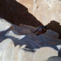 """Im """"White Canyon"""" - kurze und leichte Kletterpassage"""