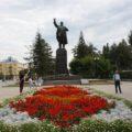 Irkutsk: Lenin grüßt vom Zentralplatz