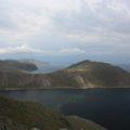 Blick von einem Aussichtsfelsen in der Tascheran-Steppe