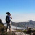 Wunderbare Aussicht vom Gipfel des Tafelbergs  während einer Wanderung am 8. Reisetag