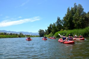 Der gemütliche Teil dieser Aktivreise: eine Kanutour auf dem Breede-River