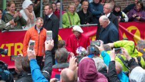 Hoher Besuch 2016 am Lauftag - das norwegische Königspaar gab sich die Ehre