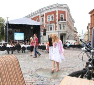Konzert auf Rigas Marktplatz